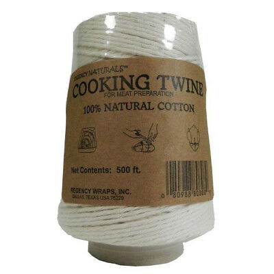 Regency Wraps 100% Natural Cotton Cooking Twine String 500ft 152m Meat Prep New
