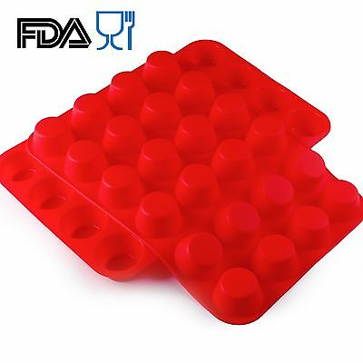 Round Silicone Ice Tray Cube Mold 24 Cavity DIY Cake Chocolate Mould SCM01C-31