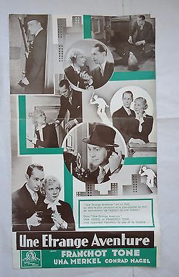 FRANCHOT TONE/ONE NEW YORK NIGHT/french pressbook 30's