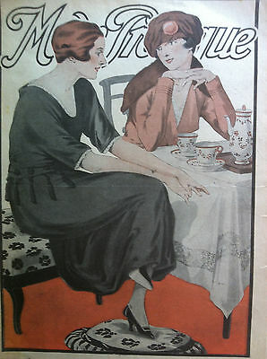 February 15, 1919 ORIGINAL FRENCH SEWING PATTERNS precut MODE PRATIQUE
