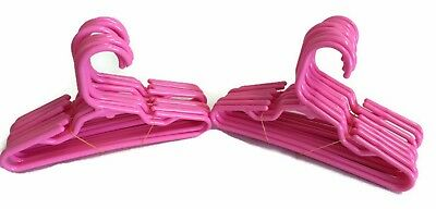 "24 Pink Plastic Hangers(2 Dozen) made for 18"" American Girl Doll Clothes"