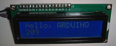 Arduino Blue LCD 1602 with I2C interface only requires 2 I/O  pins UK stock