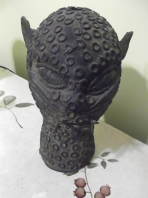 Antique African Bronze Benin Panther Head