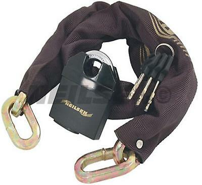 HEAVY DUTY CHAIN & PAD LOCK long padlock 1M THICK bike gate motorcycle 3 keys