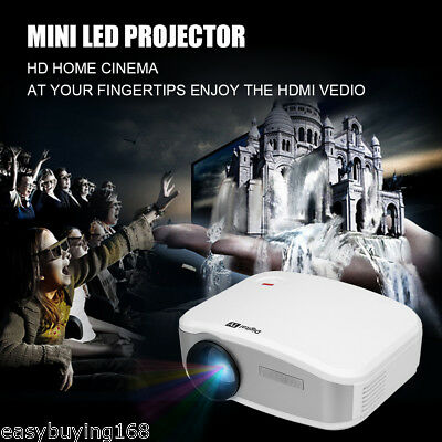 LED/LCD Portátil Mini Multimedia Projector Proyector Home Teatro cinema 1200lume