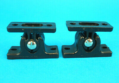 2 x Black Nylon Door Retainer Hold Back Holder Trailers Motor Home Caravan