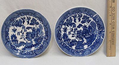 Antique Vintage Blue Willow Saucer  Made In Japan Lot of 2