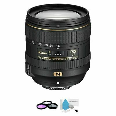 Nikon AF-S DX NIKKOR 16-80mm f/2.8-4E ED VR Lens + UV Kit & Cleaning Kit