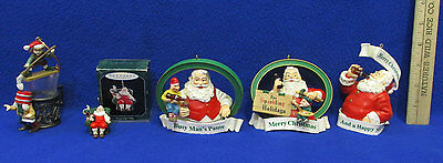5 Coca Cola Santa Christmas Figurines Ornaments Trim A Tree Collection New Year
