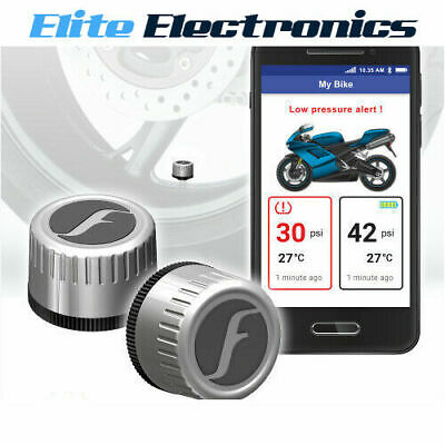 FOBO BIKE SILVER BLUETOOTH 4.0 DIY TYRE PRESSURE MONITOR SYSTEM TPMS iOS ANDROID