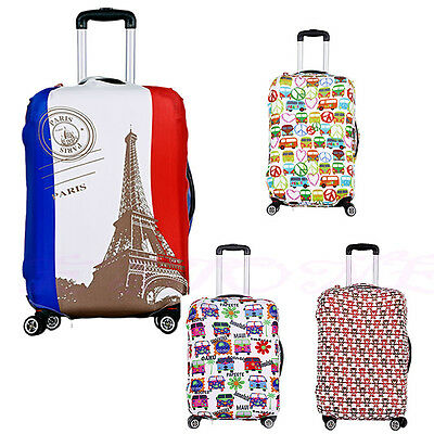 Zipper Travel Luggage Protector Elastic Suitcase Cover Dust-proof Anti scratch