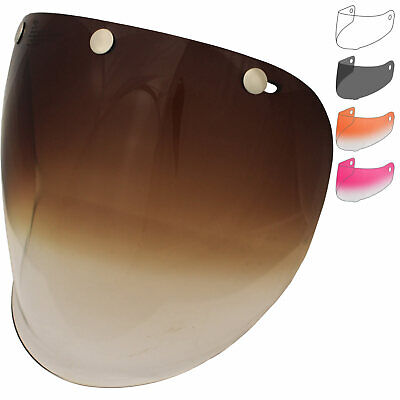 Bell Replacement Custom 500 Retro 3-Snap Fixed Visor Motorbike Protection Shield