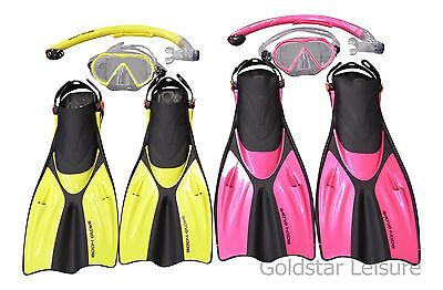 Adults Body Glove Recreational Mask Snorkel Fin Set Scuba Dive Snorkeling Gear