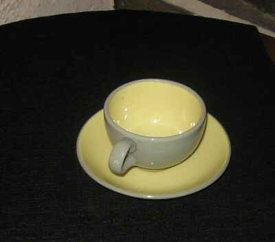 Vintage Harker ware Grey and yellow Buy what you need cup and saucer
