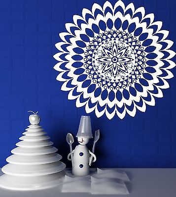 Wall Vinyl Sticker Mandala Circle Meditation Floral Ornament Decor (n228)