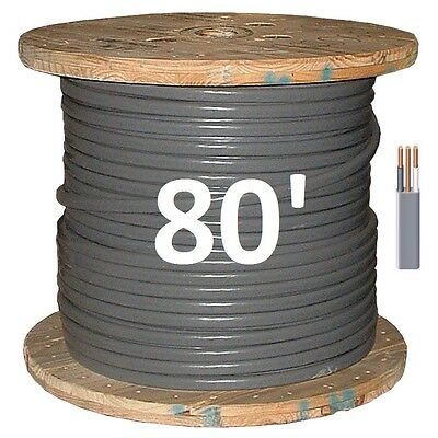 10/2 UF (80') (Underground Feeder) Direct Burial Copper Conductors 3 Wire/Cable