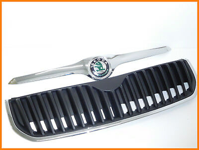 SKODA SUPERB 2008-'13 FRONT BONNET GRILLE & CHROME TRIM and BADGE 3T0853668A-NEW