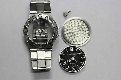 Bvlgari Mid Size Watch Lcv35 S D 18457 Parts Only Water Damaged