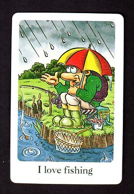 Vintage Swap/Playing Card - Humour - I Love Fishing
