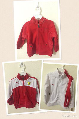 NWT Ferrari Puma Toddler Red White Kids Boys Jackets 2T 3T 4T 5 6
