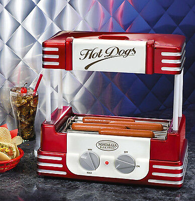 Nostalgia Electrics Retro Series 1950's Style Hot Dog Roller In Red RHD800 New