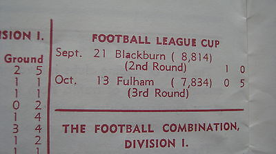 BLACKBURN v NORTHAMPTON &FULHAM- 65/66 LEAGUE CUP PROGRAMMES 2ROUNDS ONLY!!!!!!