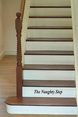 The Naughty Step / Time Out / The Thinking Step decal Learning for children!!