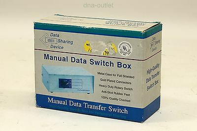 Data Sharing Device - Manual Data Switch Box - New & Warranty
