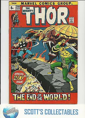 Thor   #200     VF   (End of the World)   Nice Grade