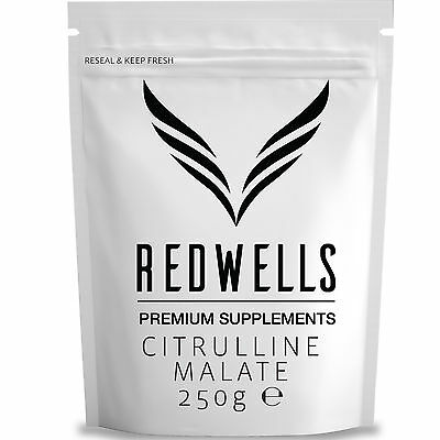 CITRULLINE MALATE POWDER (2:1) 250g - PHARMACEUTICAL QUALITY - WITH FREE SCOOP!