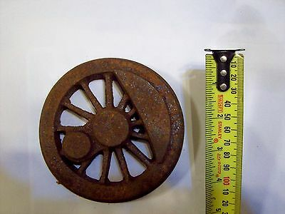 Live Steam 13 Spoke Cast Iron Locomotive Driving Wheel, 5  or 3 1/2 inch gauge.