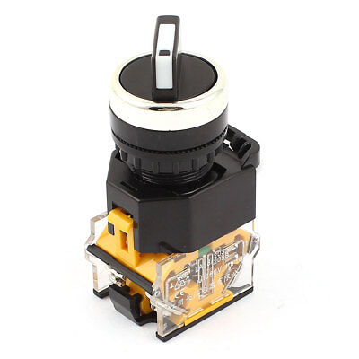 Panel Mounted 3 Position Selector Rotating Button Switch AC380V 10A DPST
