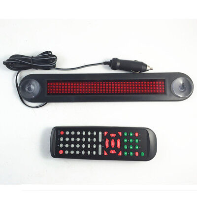 Car 12V Blue LED Message Sign Programmable Moving Scrolling Board Remote Control