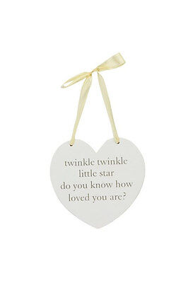 New Mum To Be Gift Mummy Baby Shower Unisex Nursery Heart Plaque Twinkle Twinkle