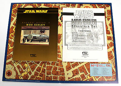 STAR WARS GALAXY GUIDE 7 MOS EISLEY + MAP + ADVENTURE SET 1993 West End #40069