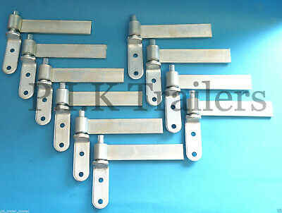 """10 x 6"""" Zinc Plated Tailgate Drop side Hinge and Gudgeon Pin set"""