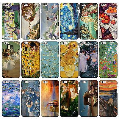Classic Art Collection Cases for iPhone Range. 3DP Famous Artist Painting Covers