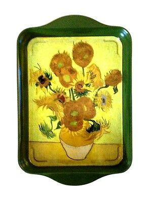 """Tray - """"Vase of Sunflowers"""" - Tin 8 1/4"""" x 5 1/2"""" - French, Fun, Functional"""