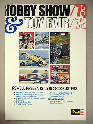 Revell Model 8-Page PRINT AD - 1973 ~ models
