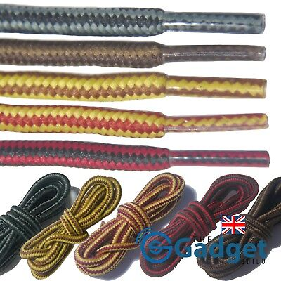 Strong Hiking Laces Bootlaces Shoelaces Interwoven - 90cm 120cm UK