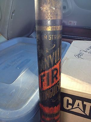 """Early 22"""" Manville Dry Chemical Fire Extinguisher Nyc"""