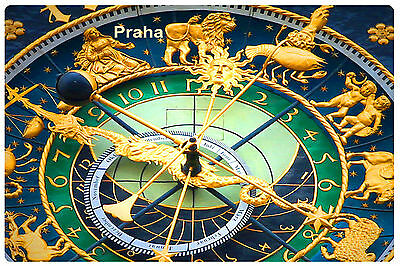 Prague Praha Astronomical clock Souvenir Photo Fridge Magnet vinyl gift