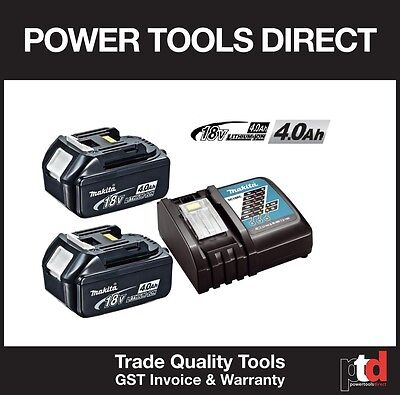 Brand New Makita 18V Cordless Bl1840 4Amp Batteries X 2 And Dc18Rc Charger