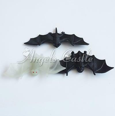3PCS Realistic Bat Halloween Party Joking Toys Haunted House Decorations Props