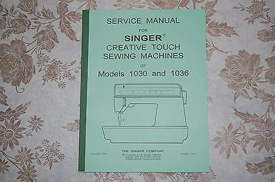 Professional Full Edition Service Manual for Singer 1030 & 1036 Sewing Machines.