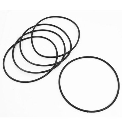5pcs 120mm Outer Dia 3.5mm Thick Industrial Rubber O Ring Seals Black
