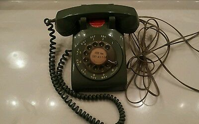 Vintage Western Electric Model 500 Green Rotary Dial Desk Telephone 70's 80's