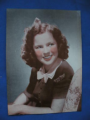 Shirley Temple Photo 194? 5 X 7 quad tone picture of very young in MGM pictures