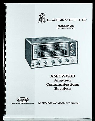 Lafayette HA700 HA-700 Communications Receiver Operating Manual