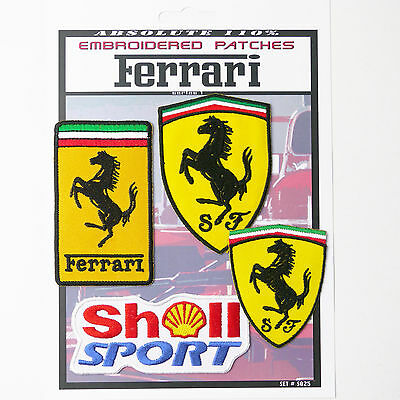 FERRARI F1 RACING MOTORSPORT PATCHES Iron-On Patch Super Set #025 - FREE POSTAGE